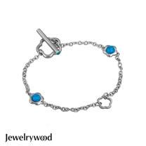 Jewelrywood 純銀浪漫土耳其石小花手鍊