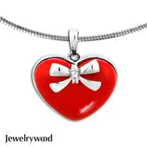 Jewelrywood 甜美紅心蝴蝶結項鍊