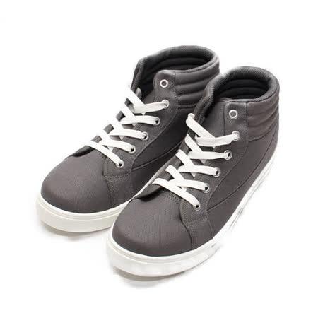 (男) GIOVANNI VALENTINO 半高筒輕便綁帶休閒鞋 灰 男鞋 鞋全家福
