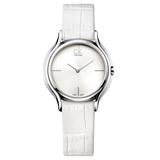 瑞士 Calvin Klein 甜蜜銀框系列氣質皮革女錶 (K2U231K6)