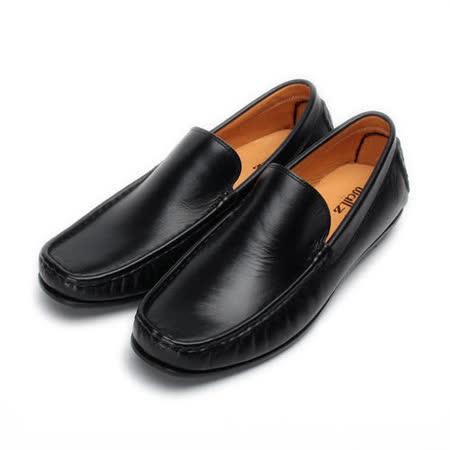 (男) Waltz 舒適套式皮鞋 黑 622056-02 男鞋 鞋全家福