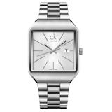 瑞士 Calvin Klein 流行時尚方型紳士錶 (K3L31166)