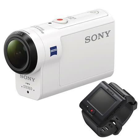 SONY HDR-AS300R 運動攝影機套組(公司貨).-送micro 64GB記憶卡+專用鋰電池*2+專用座充+蔡司拭鏡紙2入+保護貼+小腳架+SONY經典銅牌對杯