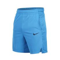 (男) NIKE 針織短褲-慢跑 路跑 健身 五分褲 水藍黑