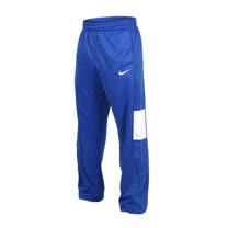 (男) NIKE 針織籃球長褲-慢跑 藍白