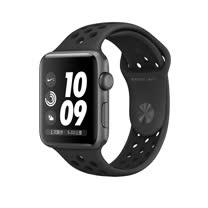 Apple Watch Series 2 智慧型手錶 (42mm) /A 42公釐 太空灰色鋁金屬錶殼搭黑色 Nike 運動型錶帶 (MQ182 TA/A)