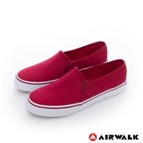 AIRWALK(女) - 小藍標 經典百搭基本直套懶人休閒鞋-紅