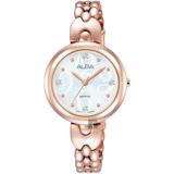 ALBA 施華洛世奇晶鑽手鍊女錶-銀x玫瑰金/28mm VJ21-X092P(AH8344X1)