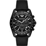 Emporio Armani Sport 探險家運動計時腕錶-黑/44mm AR6131