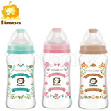 小獅王辛巴 simba 蘿蔓晶鑽寬口葫蘆玻璃大奶瓶-270ml