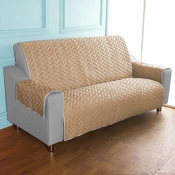 HomeBeauty 進階涼感沙發保潔墊 4人座冰沙咖