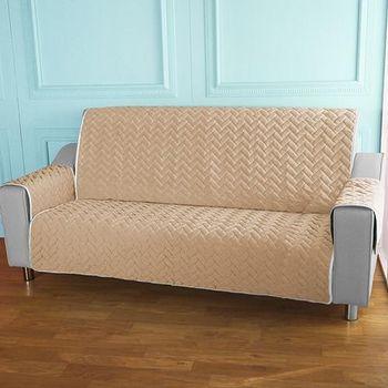 HomeBeauty 進階涼感沙發保潔墊 2+3人座冰沙咖