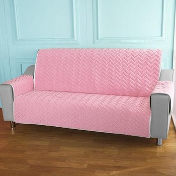 HomeBeauty 進階涼感沙發保潔墊 3人座嫩粉櫻