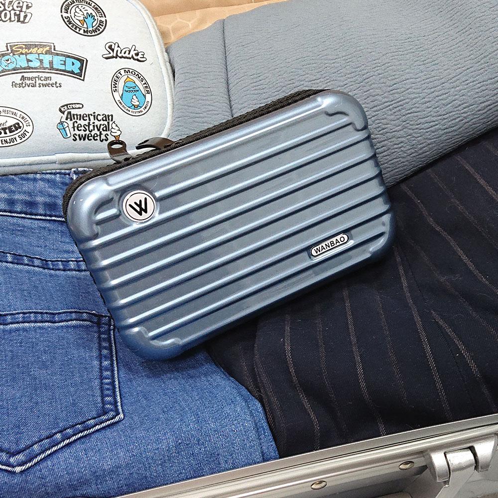 多功能<br>迷你旅行箱造型收納包2入