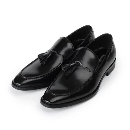 (男) Meurieio Belliei 英倫流蘇紳仕皮鞋 黑 男鞋 鞋全家福