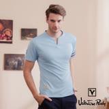 Valentino Rudy 范倫鐵諾.路迪 吸濕排汗超冰涼機能T恤衫-水藍-小V領