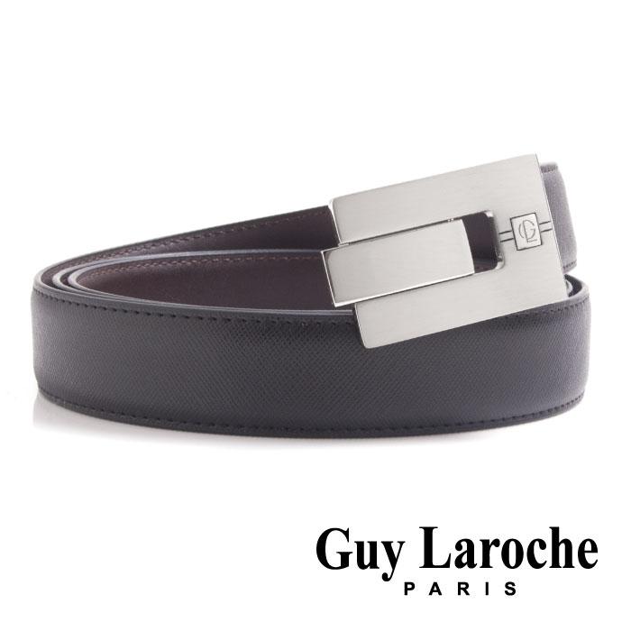 Guy Laroche 姬龍雪~鏤空 紳士皮帶 ~ 十字紋義大利牛皮