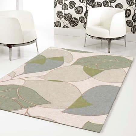 【范登伯格】德克萨斯时尚潮流丝质地毯-叶影交叠(浅款)-140x200cm