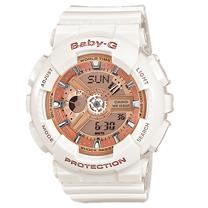 CASIO 卡西歐 BABY-G 時尚玫瑰金雙顯運動女錶 BA-110-7A1DR