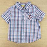 【愛的世界】MYBABY 小狗郊遊去系列純棉格子襯衫/2~4歲-台灣製-