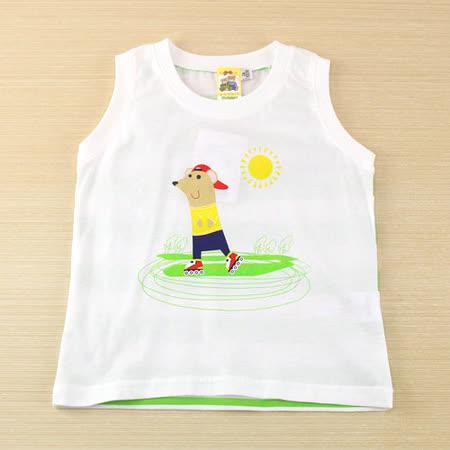 【愛的世界】MYBABY 快樂的朋友系列圓領背心上衣/6~10歲-台灣製-