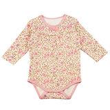 【愛的世界】MYBABY 玫瑰小熊系列純棉玫瑰長袖連身衣/6個月~2歲-台灣製-