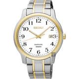 SEIKO精工 CS系列城市戀人手錶-白x雙色版/41mm 7N42-0GE0G(SGEH68P1)