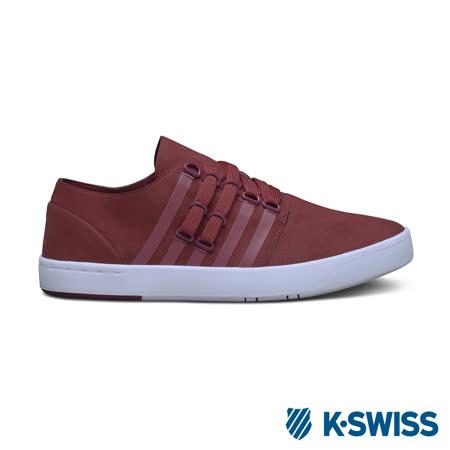 K-Swiss D R Cinch Lo休閒運動鞋-男-杜鵑紅