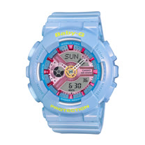 CASIO 卡西歐 BABY-G 珠光粉色時尚潮流活力雙顯運動女錶 BA-110CA-2ADR