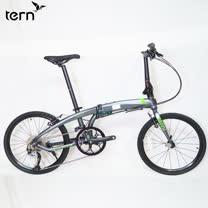 Tern Verge D9 鋁合金22吋9速451輪組折疊單車-青銅底綠標
