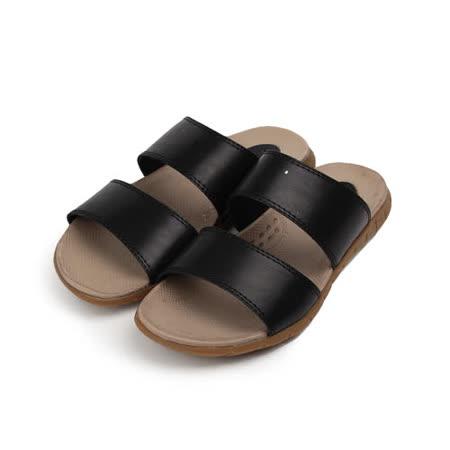(男) COOLs 韓風雙帶拖鞋 黑 男鞋 鞋全家福