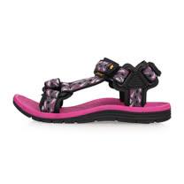 (女) SOFO 運動涼鞋-海邊 海灘 沙灘 戲水 桃紅灰