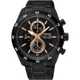 SEIKO精工 Criteria 零極限三眼計時手錶-黑/44mm V176-0AR0K(SSC545P1)