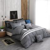 OLIVIA 《 航行者 灰  》 加大雙人兩用被套床包四件組 設計師工業風格 MIT原創設計寢具