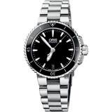 Oris豪利時 Aquis 時間之海潛水機械錶-黑/36mm 0173376524154-0781801P