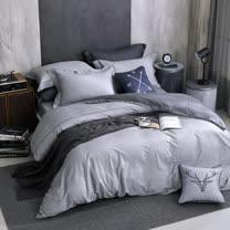 OLIVIA 《 羅蘭德 》 特大雙人床包被套四件組 棉天絲系列 全程台灣生產製作