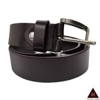 【H-CT】新款霧面扣頭材質深咖啡真牛皮皮帶(LP2016065)