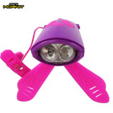 英國MINI HORNIT 蜜蜂燈鈴鐺-自行車/滑板車嬰兒推車用LED車前燈+電子喇叭-紫粉