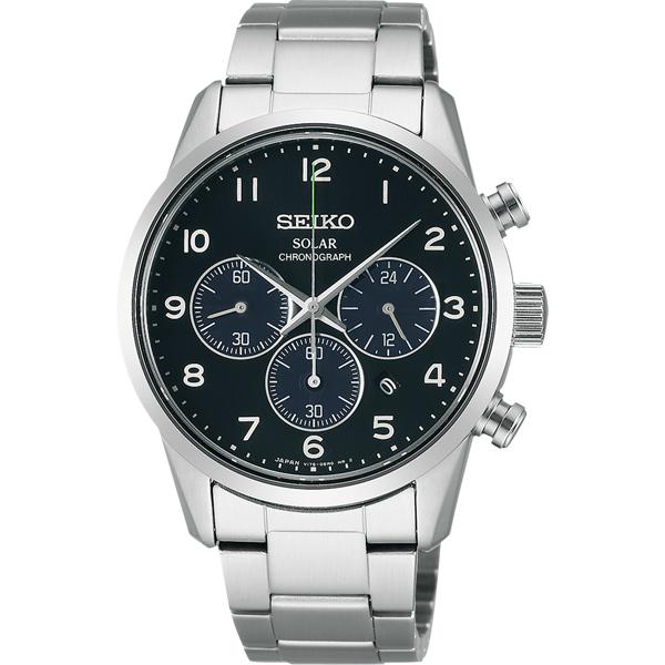 SEIKO SPIRIT 太陽能 計時腕錶~黑 39mm V175~0BJ0A SBPY1