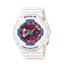 CASIO 卡西歐 BABY-G 繽紛樂高積木雙顯女錶 BA-112-7A