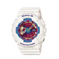 CASIO 卡西歐 BABY-G  日系版 繽紛彩色雙顯女錶 BA-112-7AJF