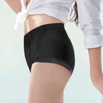 【蕾黛絲】壓腹平口褲內褲 M-EL(黑)