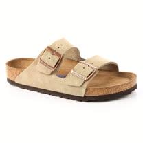 勃肯BIRKENSTOCK 951301。ARIZONA亞利桑那 經典二條拖鞋(米褐色)