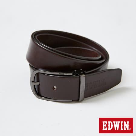 EDWIN 皮帶 金屬環頭皮帶-男-深咖啡