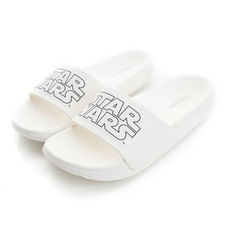 (親子鞋)2016款 StarWars星際大戰 極輕量舒適減壓室內外拖鞋 516519-白