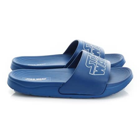 (親子鞋)2016款 StarWars星際大戰 極輕量舒適減壓室內外拖鞋 516519-藍