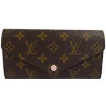 Louis Vuitton LV M41739 JOSEPHINE 經典花紋三折活動零錢長夾.粉_現貨