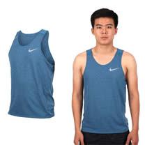 (男) NIKE 無袖針織衫-坦克背心 慢跑 路跑 訓練 藍銀