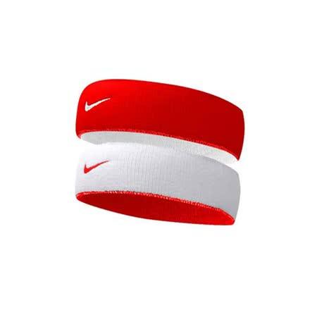 NIKE 主客場雙面頭帶-慢跑 路跑 網球 籃球 紅白 F