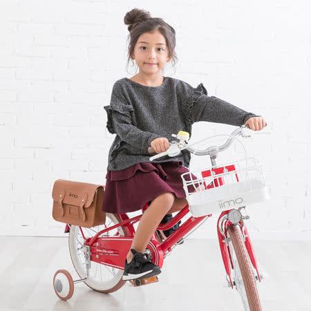 日本iimo兒童腳踏車16吋-經典紅
